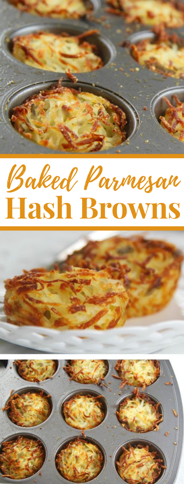 PARMESAN BAKED HASH BROWNS #breakfast #brunch