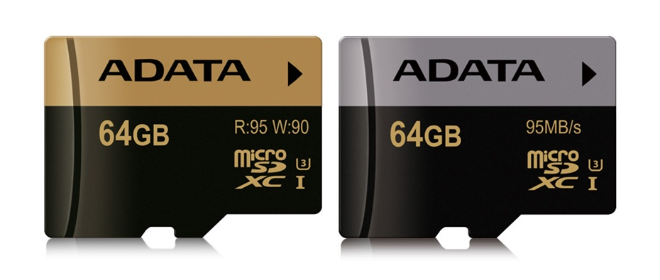 ADATA XPG and Premier Pro microSDHC/SDXC UHS-I U3 Cards