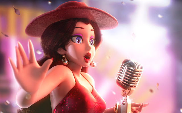 Pauline singing in Super Mario Oddessy