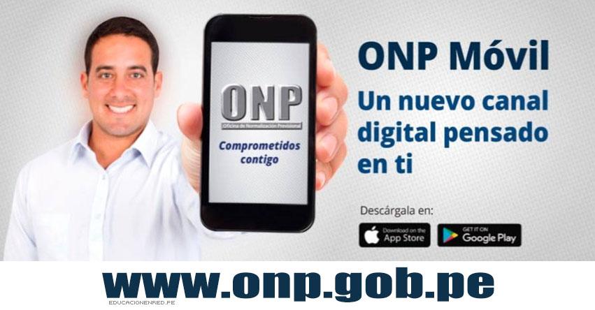 ONP MÓVIL: Conoce la APP de la Oficina de Normalizacion Previsional - www.onp.gob.pe