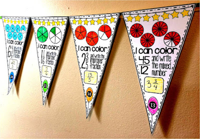 Improper Fractions & Mixed Numbers Pennant