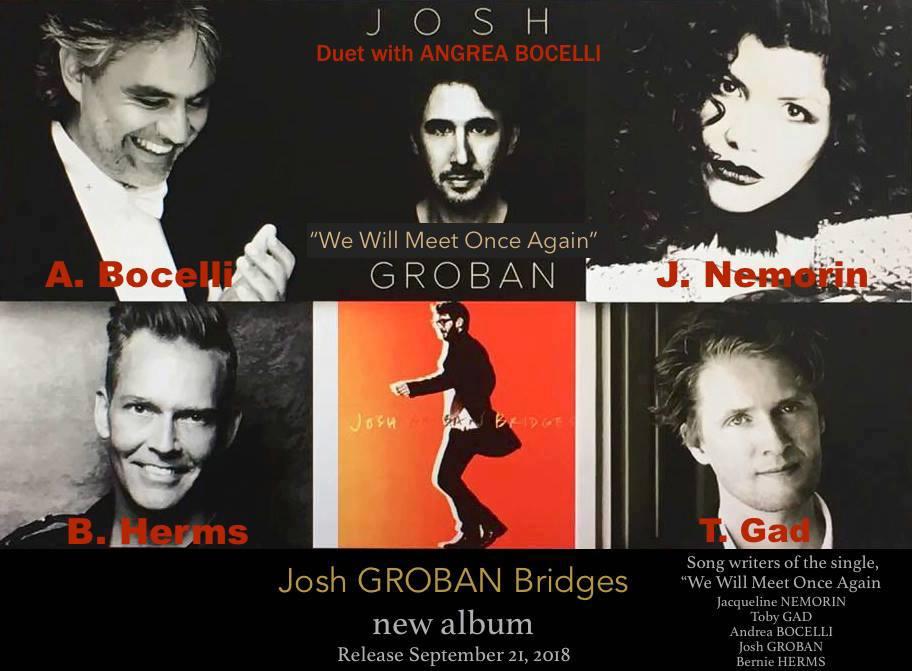 "20/09/2018 Josh Groban/Andrea Bocelli ""Bridges"" (album) Nemorin-Gad-Bochelli"