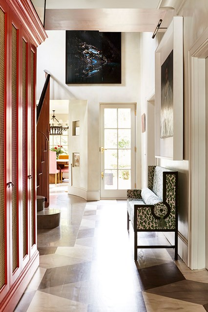 Charming foyer with beautiful architectural features- design addict mom