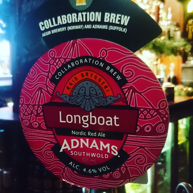 Longboat from Adnams and Aegir craft beer real ale pump clip