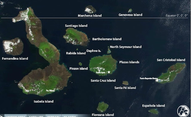 Galapagos map satellite