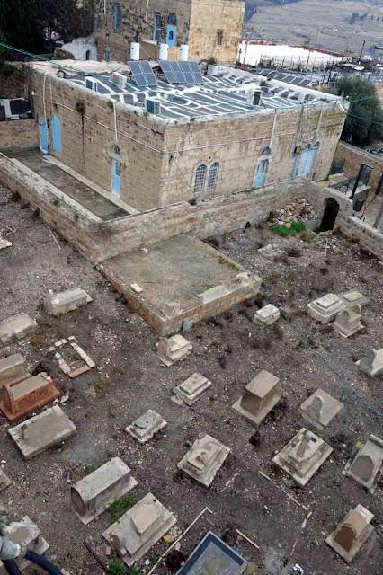 Cimetière dans la vieille ville de Jérusalem