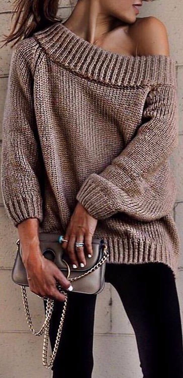 chunky knits | office outfit idea
