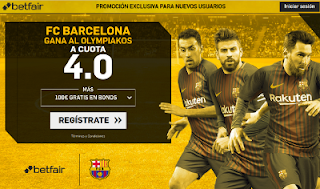 betfair supercuota 4 victoria de Barcelona a Olympiakos champions 18 octubre