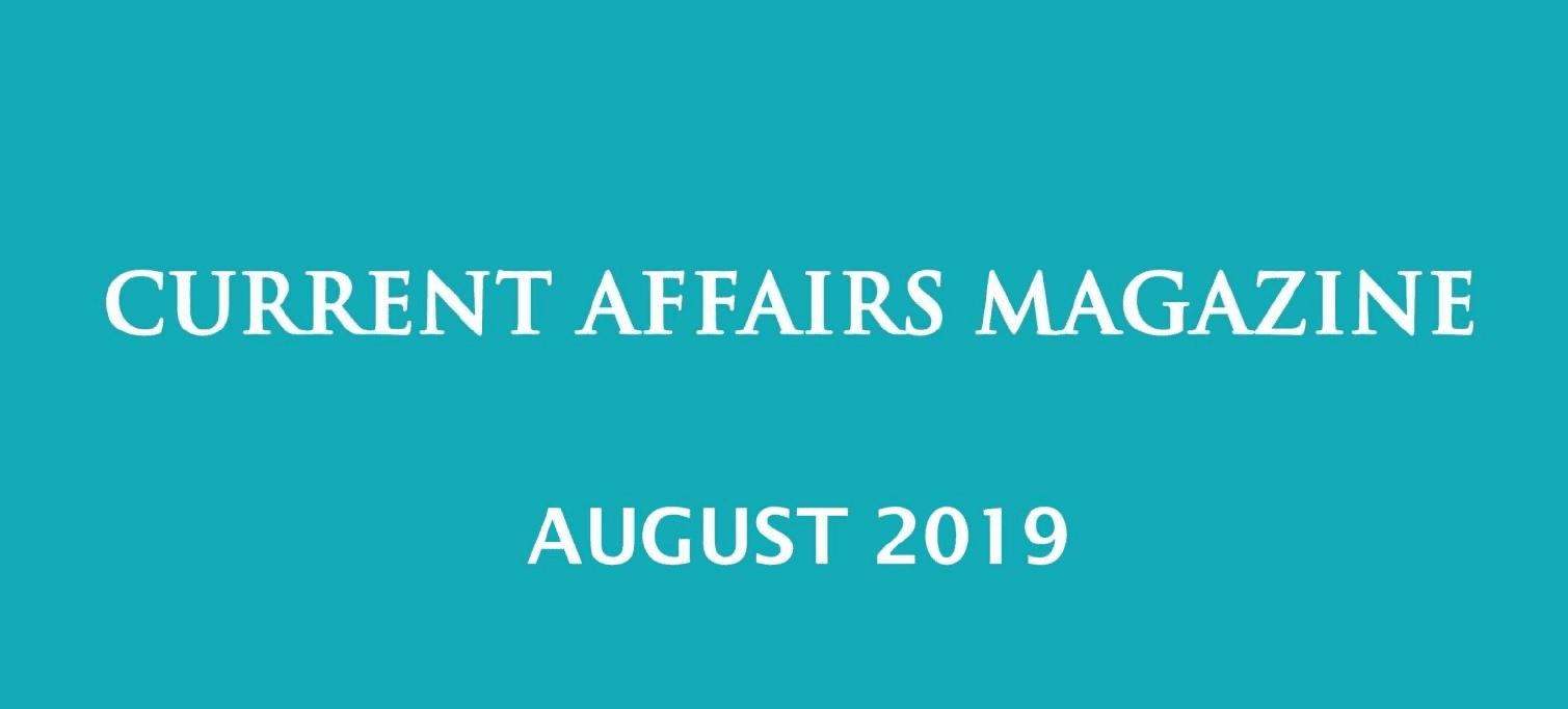 Current Affairs August 2019 iasparliament