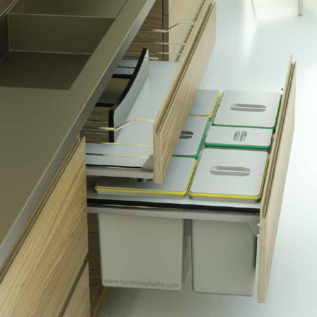 Kits de cubos de basura para cocina tu cocina y ba o for Muebles de cocina 45 cm