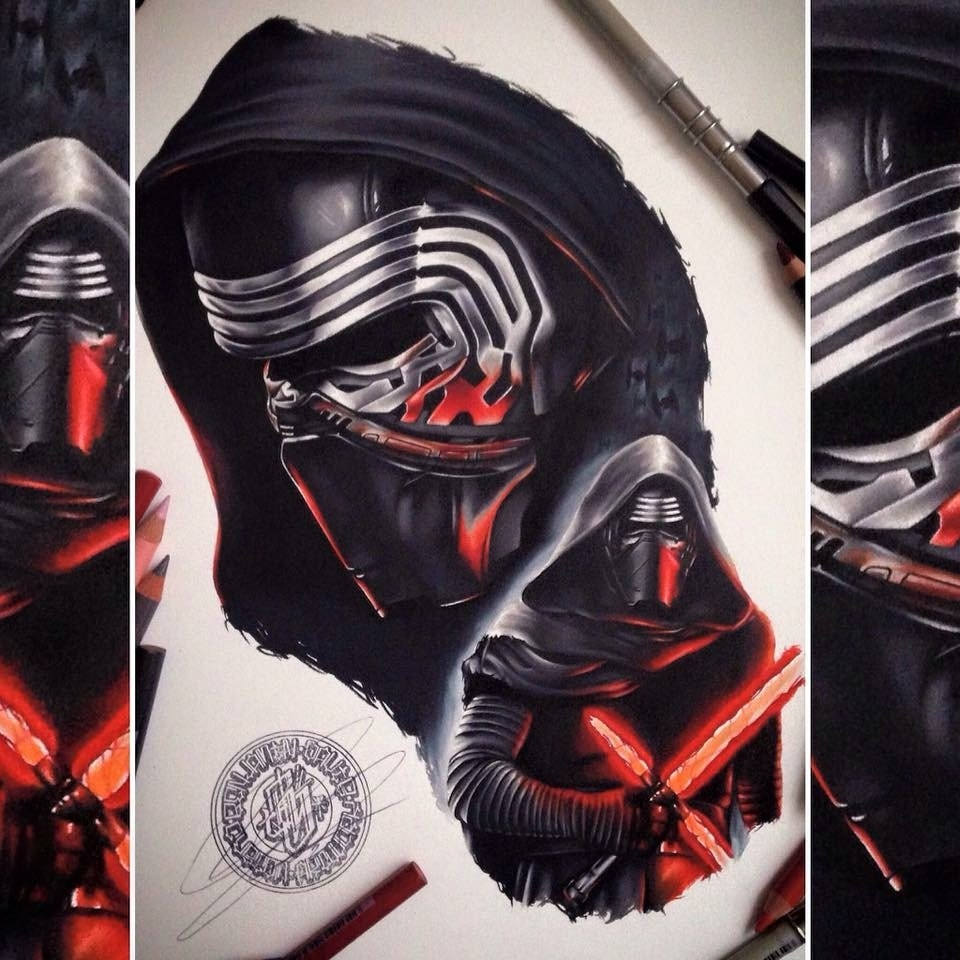 10-Star-Wars-Kylo-Ren-Benjamin-Davis-Superheroes-and-the-Dark-Side-Drawings-www-designstack-co