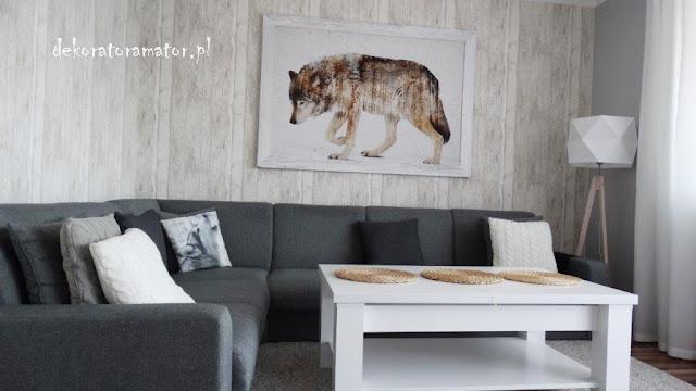 pokój dzienny w stylu skanynawskim salon scandi dekorator amator projekty wnętrz