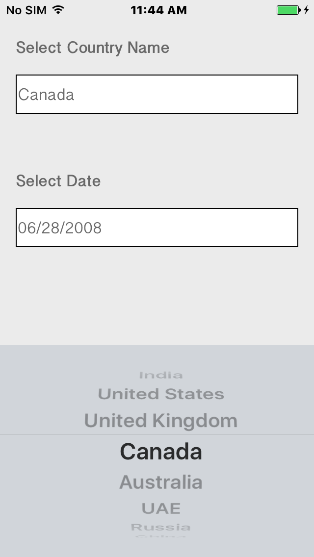 Parth Pandya Ios Picker View And Date Picker View Integration With