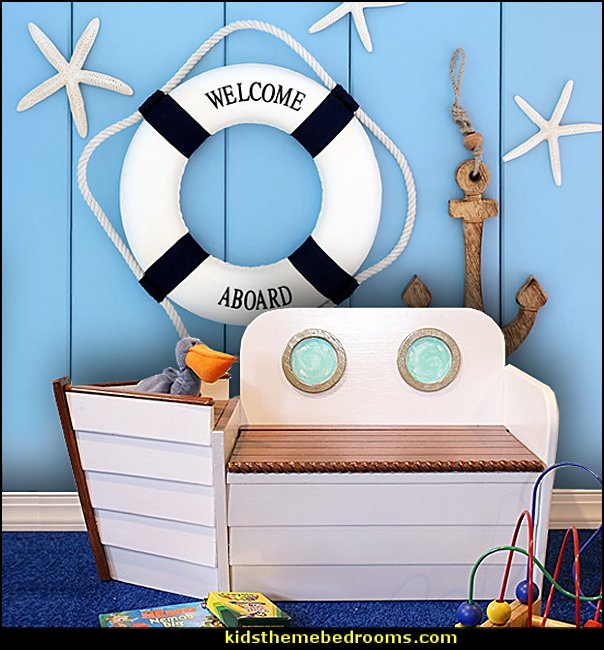 Wooden Boat toy chest Toy box Ship bench, Toy Organizer, Nautical decor, Toy storage, Wood box, kids furniture, Coastal Decor, Playroom chair