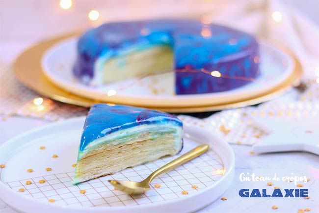 gateau de crepes galaxie