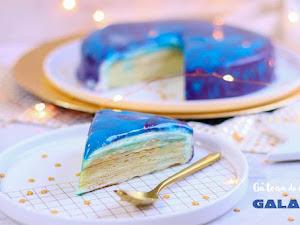 Gâteau de crêpes galaxie