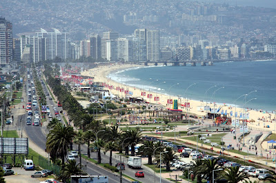 Beaches of Viña del Mar, Chile.