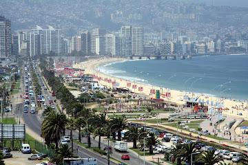 Beaches of Viña del Mar, Chile.