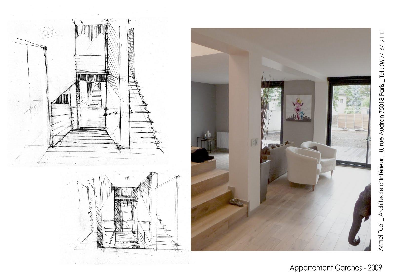 armel tual architecte d 39 int rieur cfai maison de 213m2 sur 3 niveaux. Black Bedroom Furniture Sets. Home Design Ideas