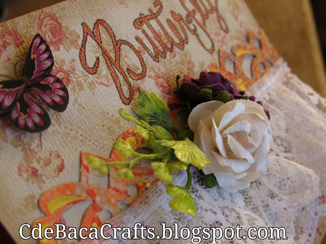 Handmade Butterfly Girl Cards with Flowers by CdeBaca Crafts Blogspot.