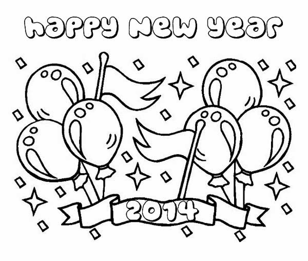 2016 new years eve coloring pages ~ FUN & LEARN : Free worksheets for kid: Happy New Year 2014 ...
