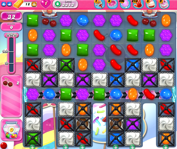 Candy Crush Saga level 2212