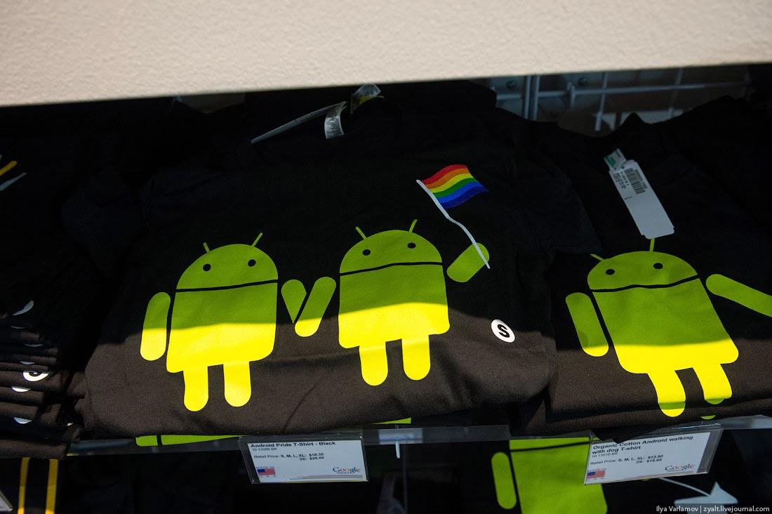 андроид на футболке