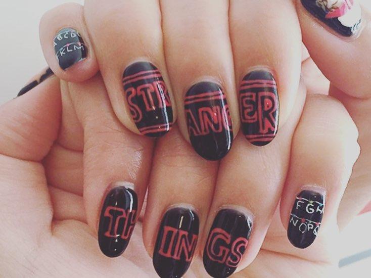 "Nailart And Things: ""Stranger Things"" Inspired Nail Art Ideas Will Make You"