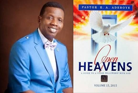 Open Heavens 28 June 2015: Sunday daily devotion by Pastor E  A