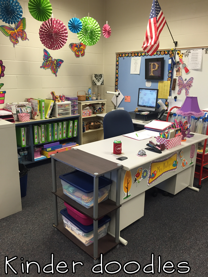 Kinder doodles 2016 classroom reveal - Classroom desk organization ideas ...