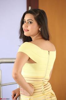 Shipra gaur in V Neck short Yellow Dress ~  042.JPG