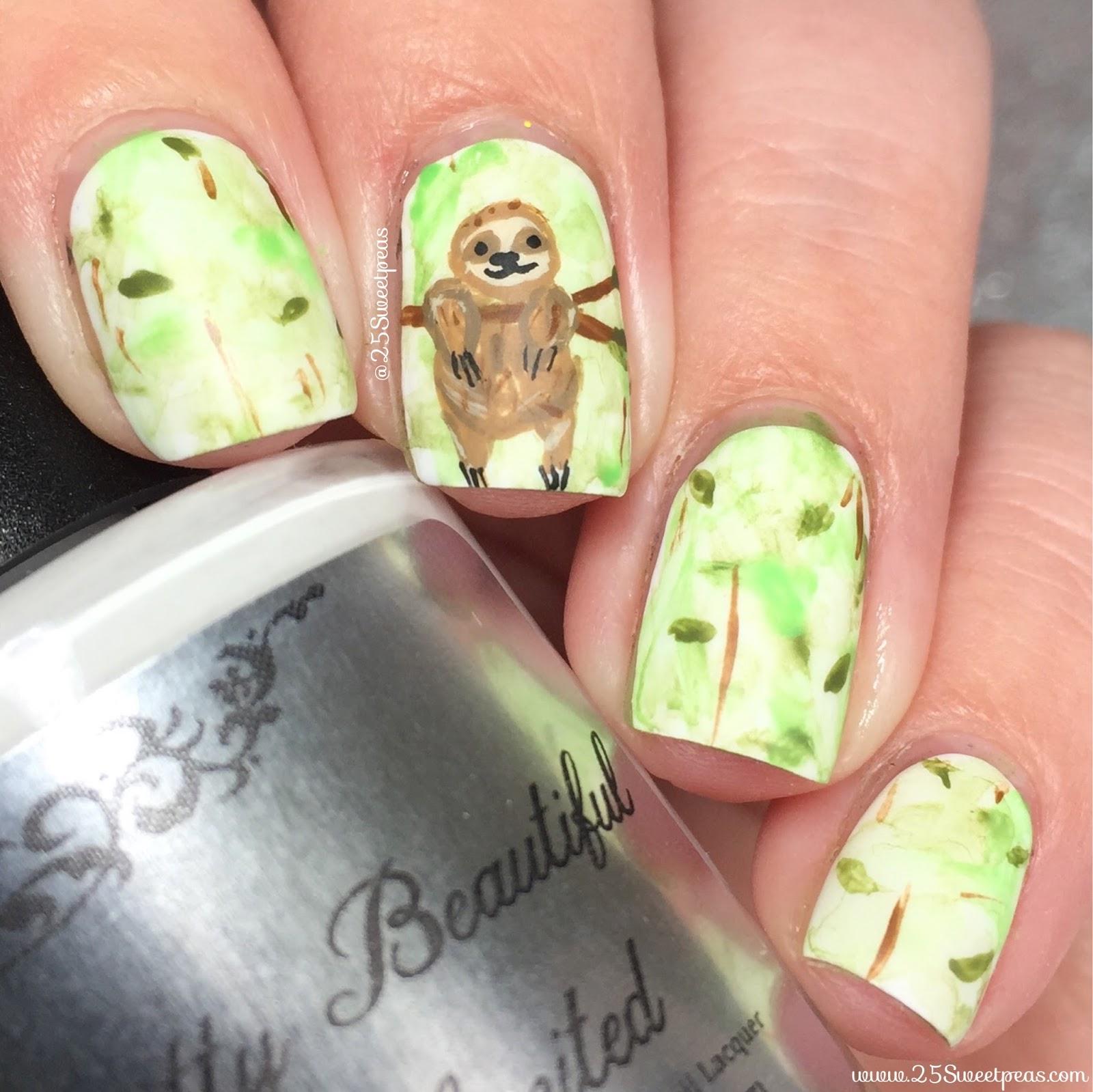 Sloth Nail Art