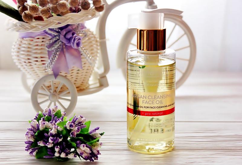 Очищающее аргановое масло для лица с про-ретинолом Bielenda Skin Clinic Argan cleansing face oil / отзывы, обзор