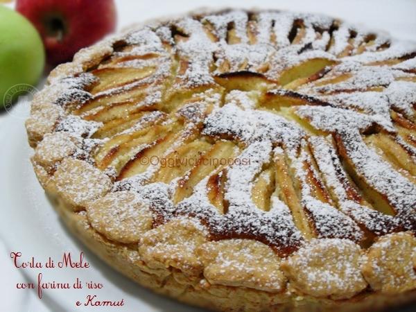 Torta con farina di farro o kamut