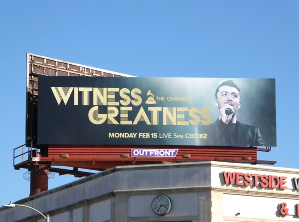 Sam Smith Grammys Witness Greatness billboard