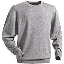 Royal Spencer Herren Rundhals-Pullover aus Kaschmir-Seide, Kaschmirpullover in Grau, kuscheliger Winterpullover, angenehm zu tragen (Gr: M - XL)