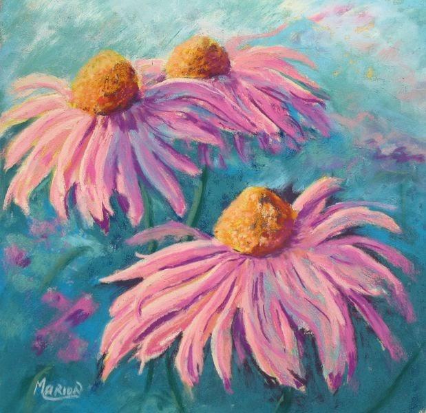 Marion S Floral Art Blog Dancing Rudbeckias Pastel Painting