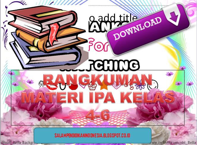 Download Rangkuman Materi Ipa Kelas 4 6 Salam Pendidikan