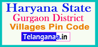 Gurgaon District Pin Codes in Haryana State
