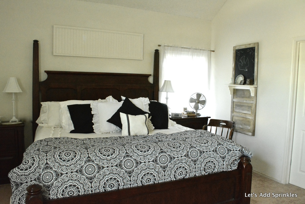 Let 39 S Add Sprinkles Black And White Master Bedroom