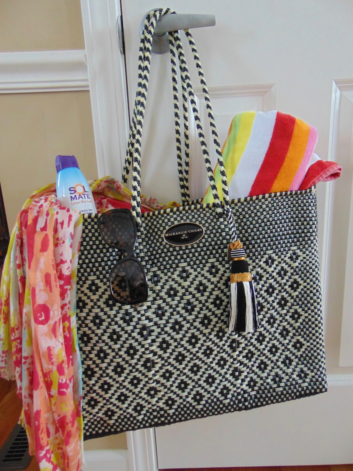 Pandoras Box Mackenzie Childs Courtyard Tote Giveaway Shopper Bag Black Mc It Is The Ideal Size To Hold All My Beach Gear A Good Book As Well Lunch