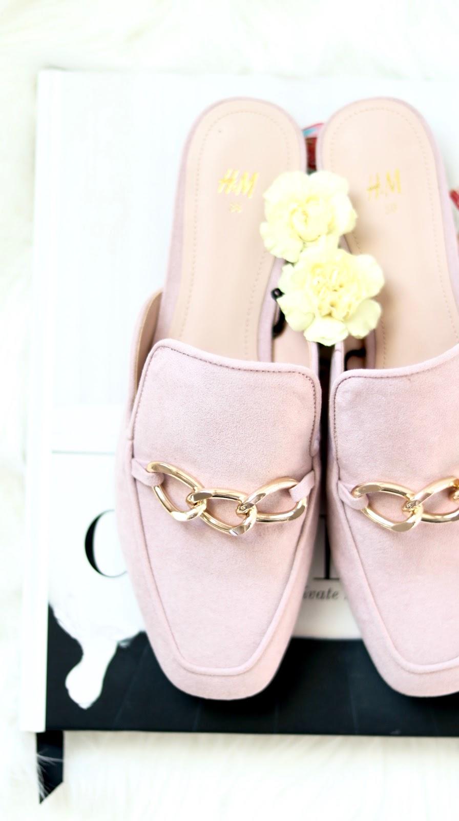 pink slides H&M, gucci dupes