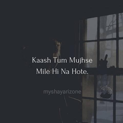 Kaash Tum Mile Na Hote Sad Lines Status in Hindi