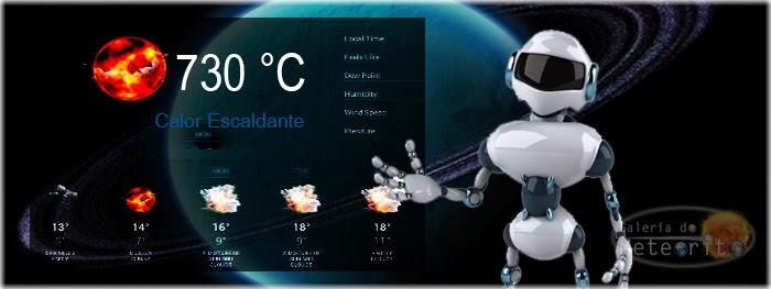 previsão do tempo em outros planetas