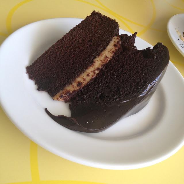 Chocolate custard cake at Calea