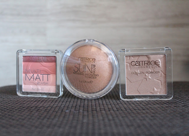 Catrice Cosmetics Multi Matt Blush, Sun Glow Mineral Brozning Powder i Golden Powder