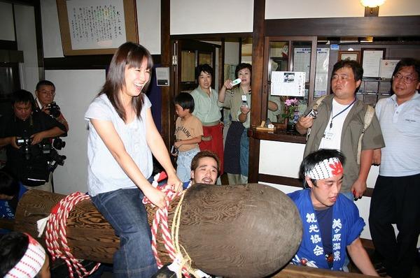Dosojin Festival (phallus festival) at Utsukushigahara Onsen Hot Springs, Matsumoto City, Nagano