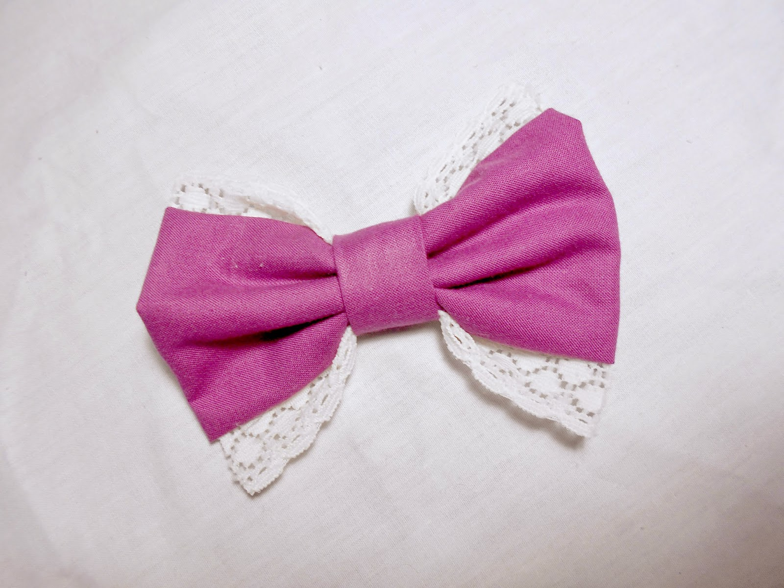 DIY hair bows - lace bow