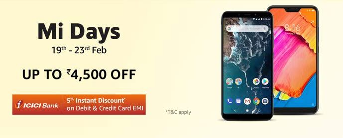 Great Offer on Xiaomi Mi Mobiles & SmartPhones | Get Upto Rs.4500 OFF