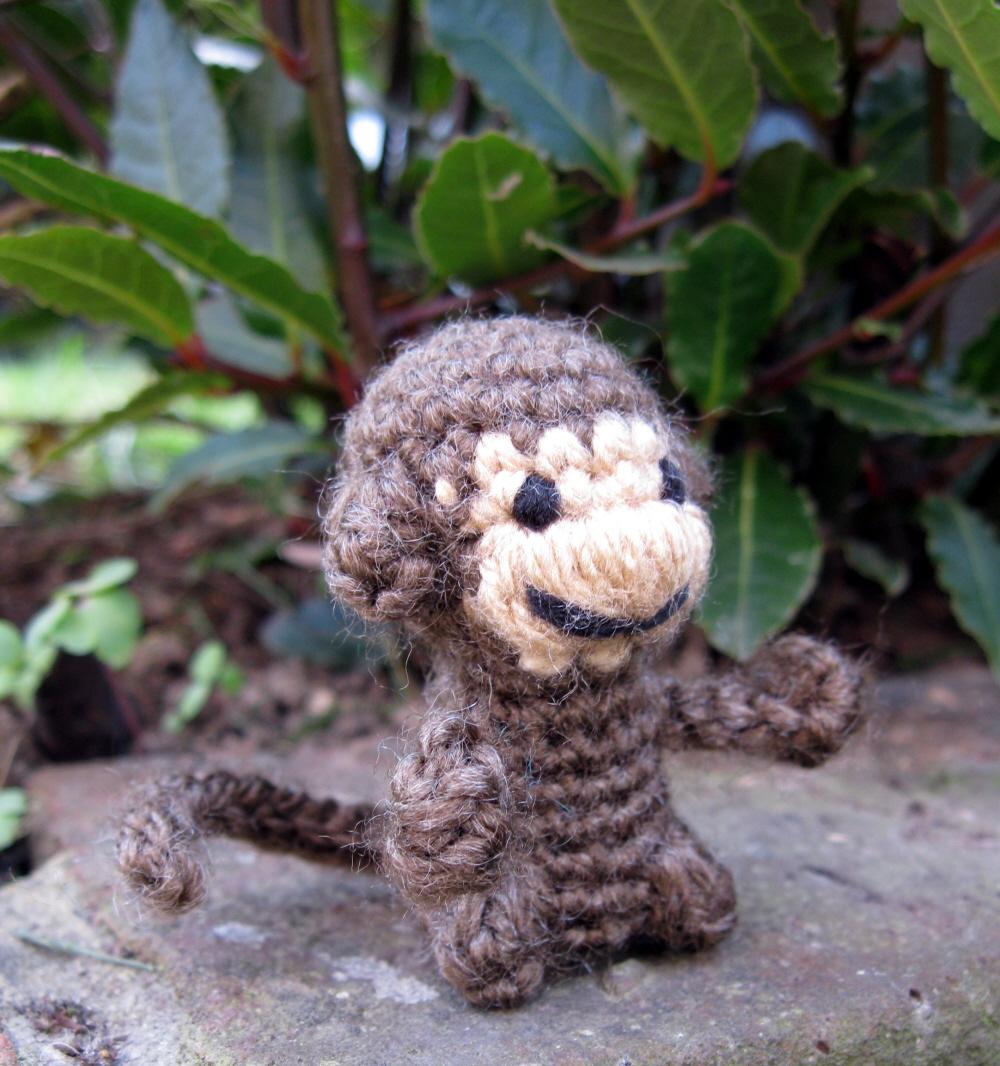 Crochet monkey toy little monkey girl mini monkeys miniature ... | 1066x1000